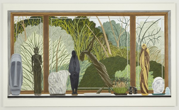76 Meadow Woods Road, oil on linen, 72 x 120 inches, 2012